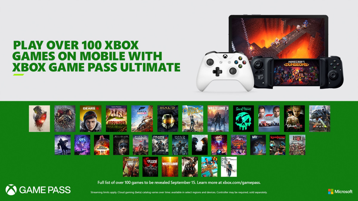 Xbox Game Pass Ultimate gets cloud gaming on Sept. 15