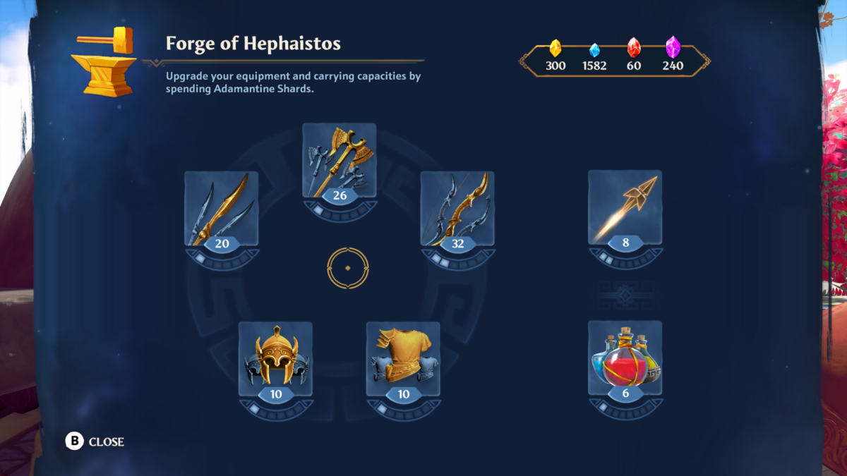 Immortals Fenyx Rising – How to upgrade weapons and armor