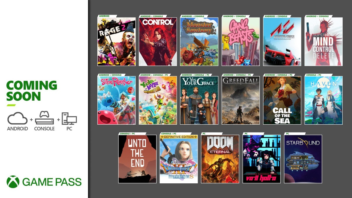 Xbox Game Pass: Control, 16 other games coming soon