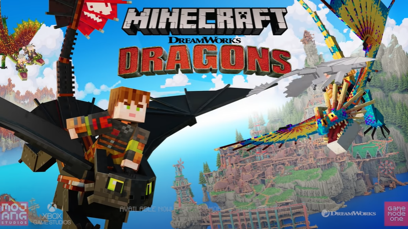 Minecraft Releases How to Train your Dragon DLC